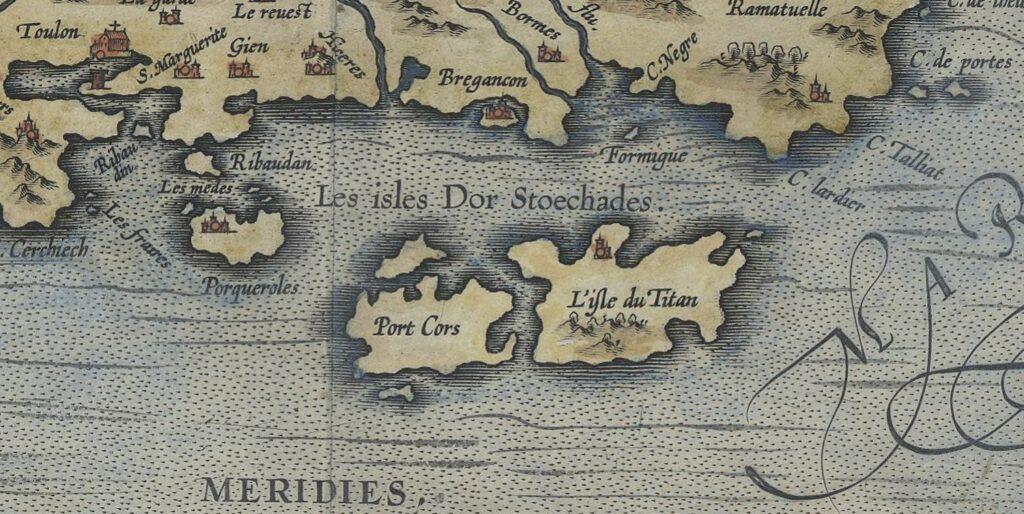 Carte marine ancienne des Iles d'Or